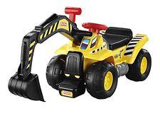 Fisher Price Big Action Dig 'n Ride Kinder fahrzeuge Rutscher Bagger Mattel NEU
