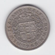 1948 New Zealand NZ Half Crown Coin  B-588