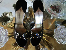 Orig.DOLCE&GABBANA High Heels Pumps Sandals Lackleder Schwarz Goldnieten 37 €800