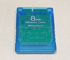 PS2 Clear Blue 8mb Memory card Official  Sony Playstation 2 Cleaned tested
