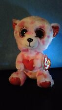 "Ty Beanie Boo - 2014 - Sweetikins the Valentine Bear -  6"" - New with Tags"
