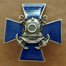 Russian ARMY  Diver cross BADGE pin    . heavy    #57  sasa