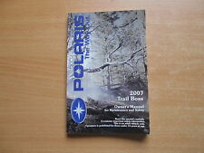 Owners manual (maintenance safety) Polaris Trail Boss Modelljahr 2007