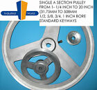 """Aluminium V Belt Pulley A Section Single Groove various sizes from 1-1/4 to 20"""""""