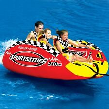 Sportsstuff Half Pipe Frantic Inflatabe Towable Water Tube 3 Person 53-2160
