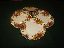 "ROYAL ALBERT OLD COUNTRY ROSE 6"" TEA PLATES X 6 First Quality"