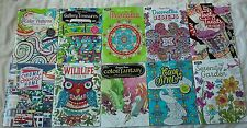 Lot of 10 Adult Coloring Books- Animals Food Pattern Home Mandala Fantasy Garden
