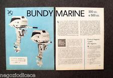 AY79 - Clipping-Ritaglio -1964- BUNDY MARINE 300 cc. E 500 cc.