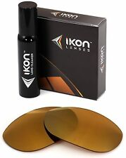 Polarized IKON Iridium Replacement Lenses For Oakley Monster Dog 24K Gold Mirror