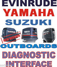 EVINRUDE YAMAHA SUZUKI OUTBOARD boat diagnostic kit cable interface USB YDS SDS