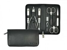 PFEILRING GERMAN 7 PIECES INOX MANICURE SET in NAPPA LEATHER CASE *NEW* SOLINGEN