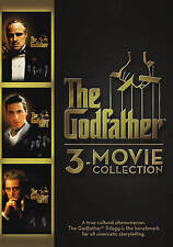 THE GODFATHER COLLECTION (DVD, 2015, 3-Disc Set) Al Pacino Marlon Brando NEW