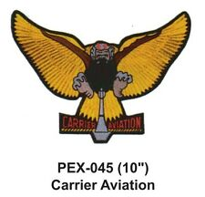 """CARRIER AVIATION Embroidered Military Extra Large Patch (10"""")"""