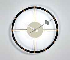mcm mid century danish modern nelson style steering wheel ball star wall clock