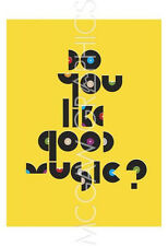 """PETERS ANTHONY - DO YOU LIKE GOOD MUSIC? - ART PRINT POSTER 19"""" X 13"""" (4140)"""