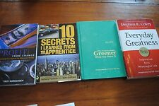 lot 4 books Profit from Change, 10 secrets learned from Apprentice, Grass is