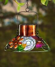 SOLAR BUTTERFLY GARDEN LAMP LANTERN HANGING OUTDOOR GARDEN HOME DECOR LIGHTING