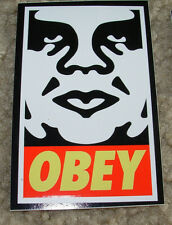 SHEPARD FAIREY Obey Giant Sticker 2.5 X 4 in WhCr OBEY ANDRE from poster print