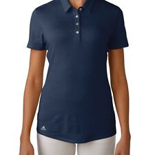 Adidas Womens Climalite Heather short sleeve Polo Golf Shirt XL Navy Blue NEW