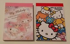 Sanrio My Melody Hello Kitty Kawaii Mini Memo pad Lot Stationery Japan