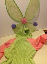 American Girl Bitty Baby Girls Size Large Butterfly Halloween Costume with Wings
