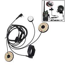 2-PIN Motorcycle Helmet Headset Earpiece For Kenwood Walkie Talkie Two-Way Radio