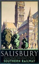 Salisbury (old rail ad.) fridge magnet   (se)