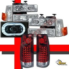 94 95 96 97 98 Chevy CK Suburban Silverado Halo Headlights Set & LED Tail Lights