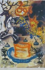 SALVADOR DALI ALICE IN WONDERLAND Who stole the Tarts signed HAND No. LITHOGRAPH
