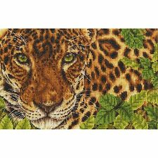 DMC SAFARI ANIMALS LEOPARD OUT OF SIGHT COUNTED CROSS STITCH KIT BK1667