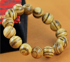 15MM Nice Round Natural Agalwood Beaded Wood Bracelet For Cool Fashion Man