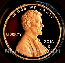 2016 S PROOF Lincoln Shield Cent Penny Coin Deep Cameo GEM directly from Mint