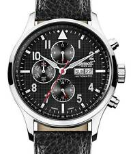 New Ingersoll Automatic Chronograph Watch - Mens Chumash Black Leather IN1412GY