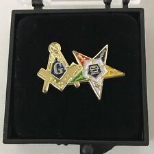 Freemason Masonic & Order of Eastern Star OES Lapel Pin