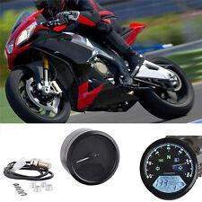 12000RPM Universal LCD Digital Motorcycle Speedometer Tachometer Odometer Black