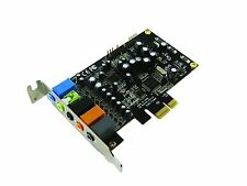 Maplin 7.1 PCI-e HD Sound Card Audio UAA 24bit 192kHz SNR 105dB Line-In CITA DSP