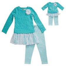 """NEW  Aqua Girls Dollie & Me & Matching Doll outfit fits 18"""" American Girl Size 6"""
