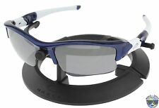 Oakley Sunglasses Flak Jacket XLJ 03-931 Team Navy Blue w/ Black Iridium Lens