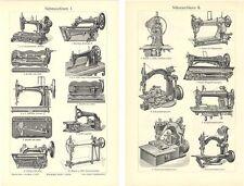 Nähmaschine -Ketten, Doppel, Schnur, -stichmaschine BBB M6 Original von 1902