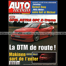 AUTO HEBDO N°1300 OPEL ASTRA OPC X-TREME MG ZT 190 WILLY WEBER SAFARI RALLY 2001