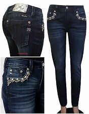 MISS ME SIZE 34 (17 /18 ) WILD FLOWER MID-RISE SKINNY JEANS MP7249S2 NWT