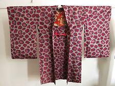 Kimono Haori Meisen Seide aus Japan 1920〜 Seide Art Deco handgenäht