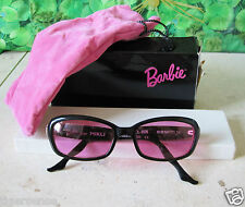 RARE! VINTAGE 90s * BARBIE * ALAIN MIKLI 70s Glam Rock Cat Eye occhiali da sole nero rosa