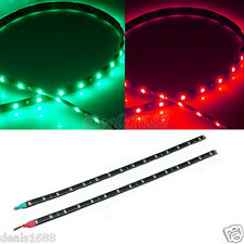 2PC Boat Navigation LED Lighting RED & GREEN Waterproof Marine Car LED Strips
