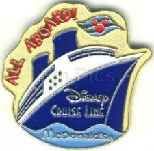 Disney Pin: Disney Cruise Line DCL McDonalds All Aboard!