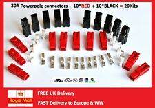 30A POWER CONNECTORS BLACK/RED X 20KITS