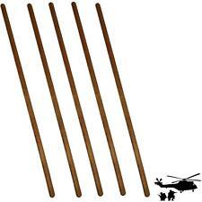 6 Pièces Bois Barre ronde Bâtons en de hêtre 80cm long stable 2cm epais