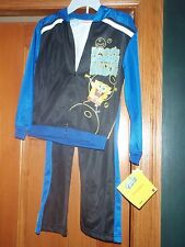 SPONGEBOB 2 PIECE JACKET W/HOODIE & JOGGING PANTS SZ 6 RETAIL $48.00