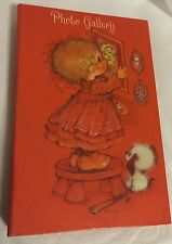 Vintage Hallmark Photo Gallery PICTURE ALBUM MARY HAMILTON girl/dog