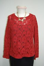 Red H & M Lace Top, Size US 6